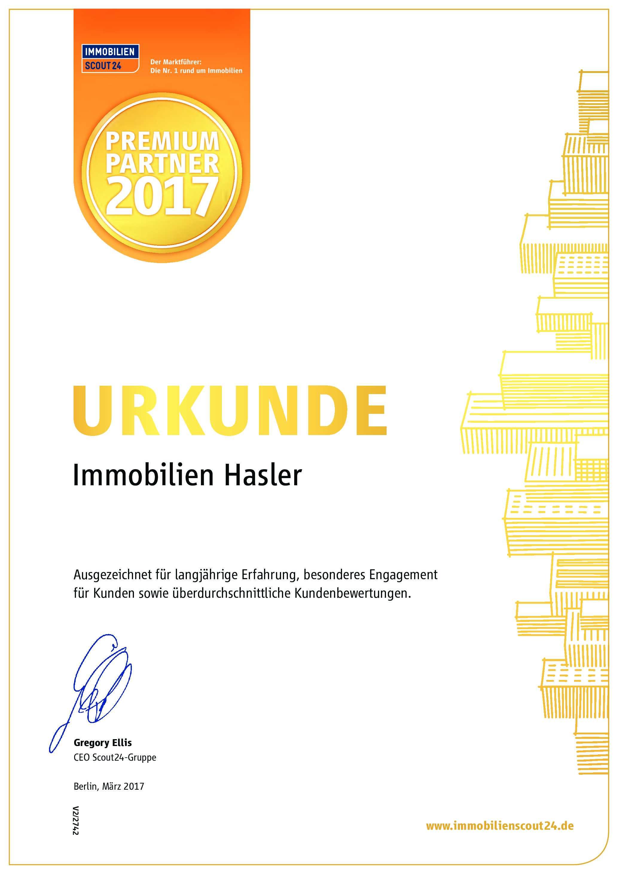 Referenzen & Auszeichnungen | Immobilien Hasler